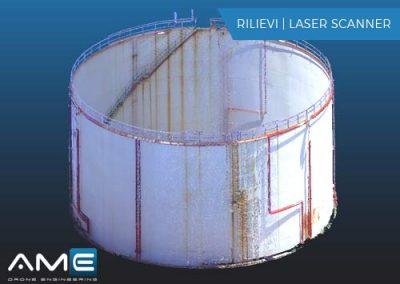 Rilievo Laser Scanner – Serbatoio carburanti liquidi Gela (CL)